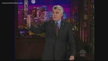 Jay Leno tours in Maine and chats with Amanda Hill about his long career