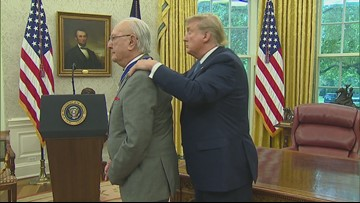 Trump awards Medal of Freedom to NBA Hall of Famer Bob Cousy