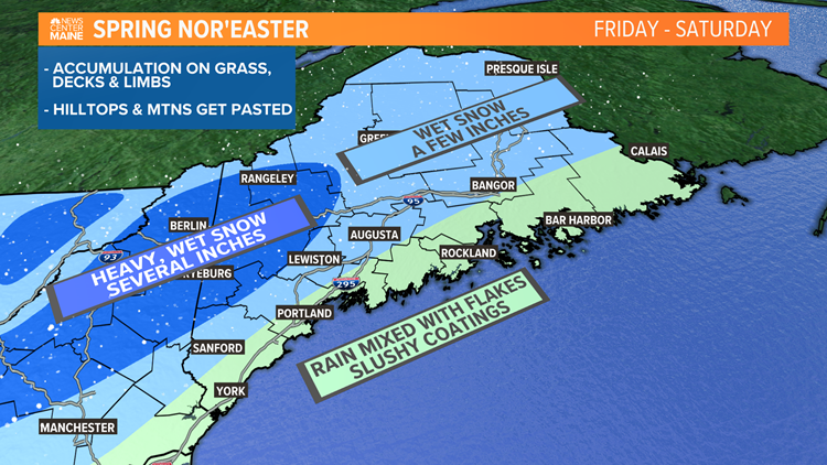 April snow on the way for Maine