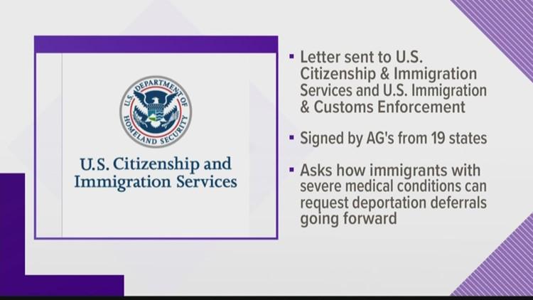 Dozen AGs, including Maine's, send USCIS letter regarding medical conditions