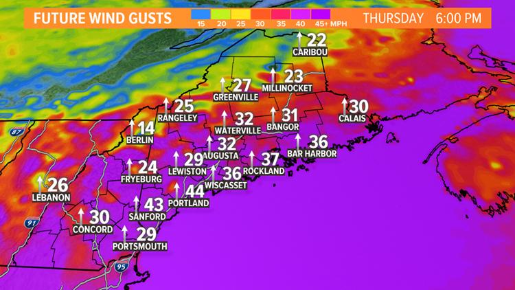 Wind: Thursday Evening