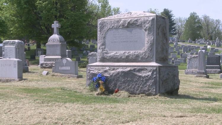 Marissa Kennedy's family plot, grave in Calvary cemetery -- New Windsor, New York.