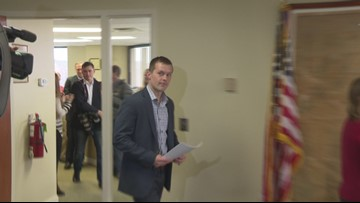 Rep.-elect Jared Golden hold press conference after vote tally