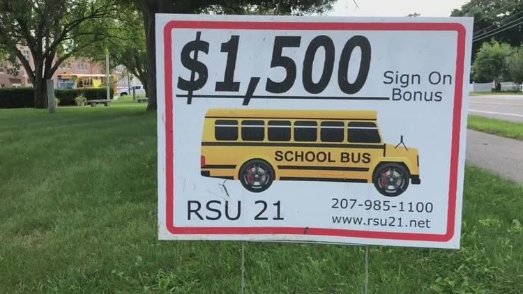 Bus driver shortage has Maine school districts looking at signing bonuses
