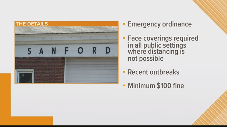 Sanford passes mask ordinance