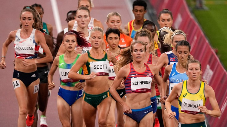 'Proud of the race I ran'   Maine native Rachel Schneider finishes 17th in 5,000m, misses finals