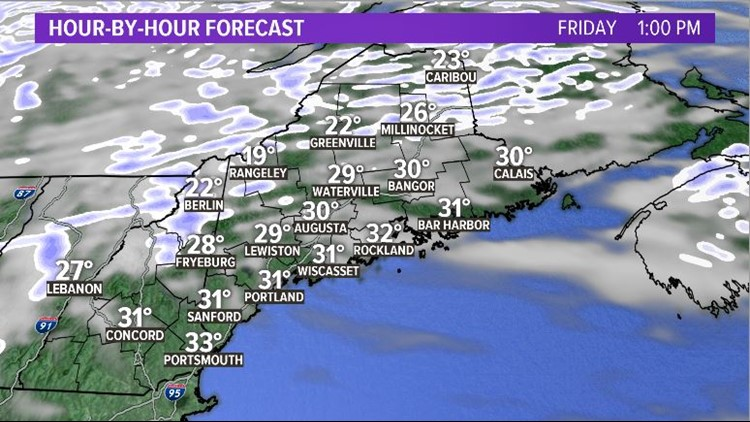 Friday Snow Showers