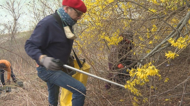 Celebrating Earth Day by cleaning Portland's East End