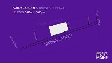 Portland roads closing for Barnes' funeral
