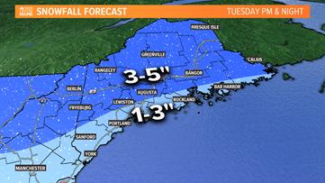 Next round of snow Tuesday
