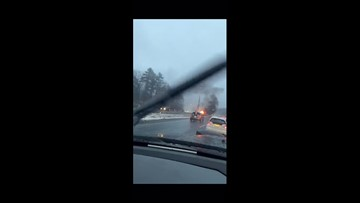 I-295 southbound car fire