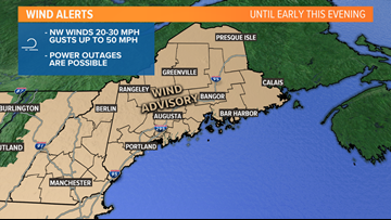 WINDY SATURDAY: Gusts could approach 50 MPH, today