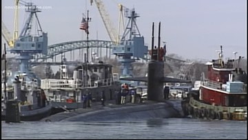 Nuclear-powered attack sub sails into Portsmouth Naval Shipyard