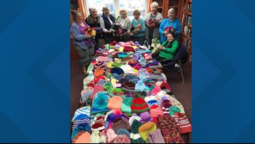 Volunteer knitters need yarn to keep Mainers warm