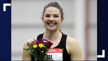 Casco's Kate Hall wins national long jump title