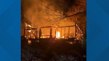 Harpswell home destroyed in fire; two brought to hospital