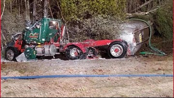 Tank trailer cracks in New Hampshire crash spilling 5,000 gallons of fuel