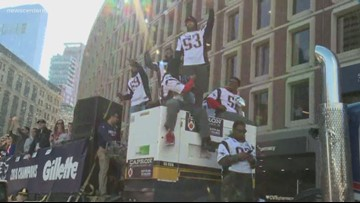 Patriots fans celebrate Super Bowl win in Boston