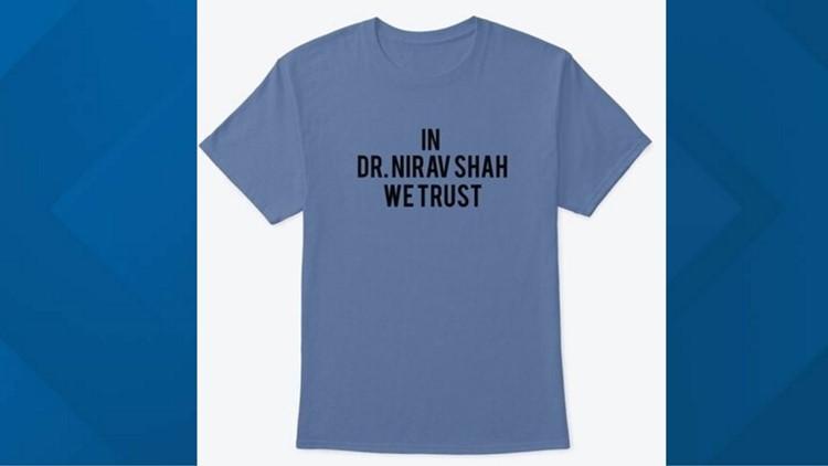 Westbrook woman makes Dr. Shah t-shirts, merchandise