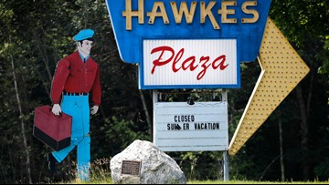 Maine's walking repairman sign is now a national landmark