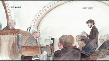 Sketches of Dzhokhar Tsarnaev in court