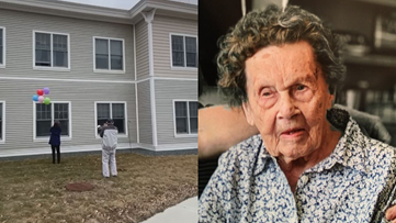 Trumpeter serenades Maine woman on her 104th birthday outside her window