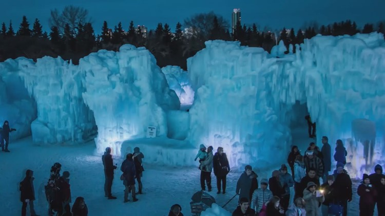 Ice Castle New Hampshire weighs 10 million pounds, draws thousands of visitors
