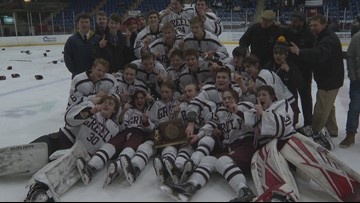Greely Rangers, St. Dom's Saints win hockey state titles