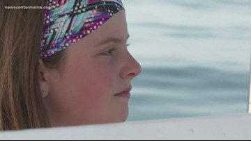 11 year old girl lobstering her way through summer
