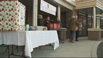 Generations help each other in holiday food drive