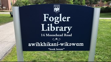 UMaine adds Penobscot language to signs across campus