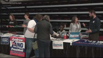 Volunteers collect signatures for presidential candidates