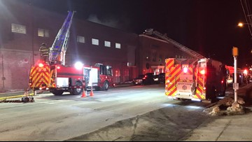 Firefighter injured while battling Waterville's Huhtamaki building fire