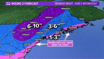 Winter storm impacts Monday commute for some, Tuesday commute for all