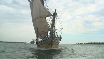 A return to Cabbage Island on the Schooner Heritage