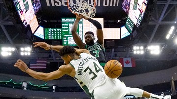 Antetokounmpo containment strategy pays off for Celtics with playoff win