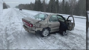 Houlton crash leaves two in hospital