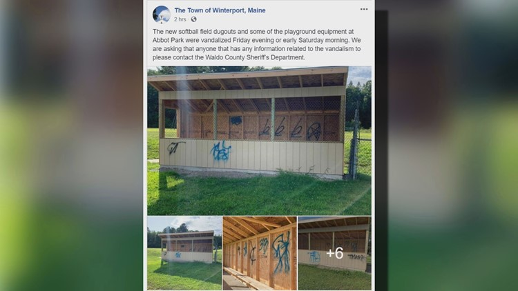 Winterport vandalism Facebook post