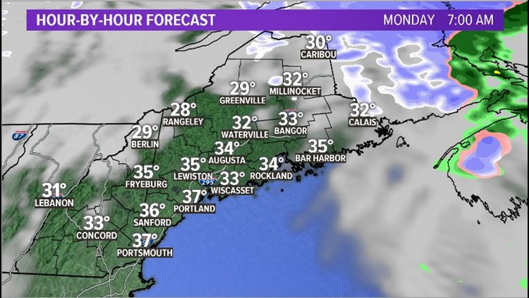 Monday Snow Squalls