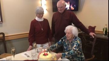 80-year-old twins celebrate birthday with 103-year-old mother in Brunswick