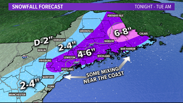 Messy Monday morning commute with snow, rain | Maine Weather Blog