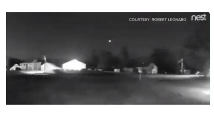 Fireball caught on New Hampshire home security camera