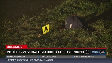 Police investigate stabbing at playground