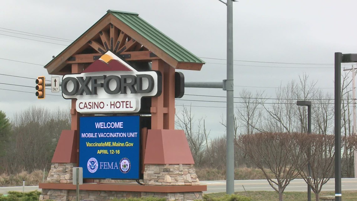 Maine's mobile vaccination unit makes it's first stop at Oxford Casino