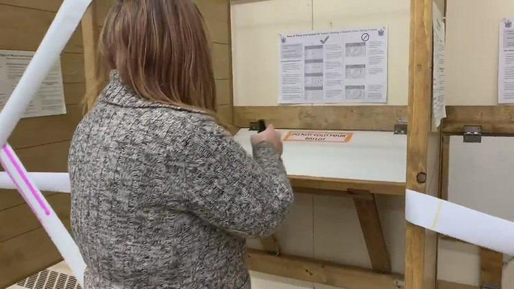 Cleaning after each round of voters