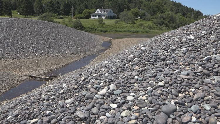 Machiasport's Jasper Beach washed out from big June rainstorm