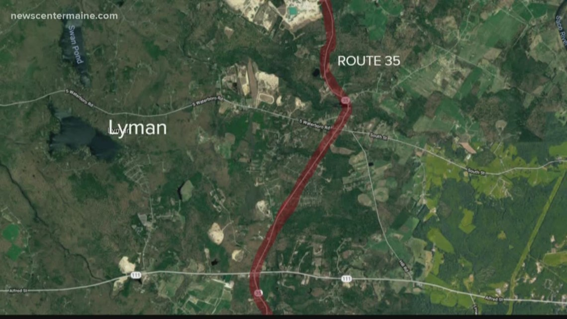 Lyman Maine Map.Hollis Man Killed In Lyman Crash Newscentermaine Com