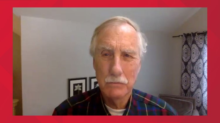 Maine Sen. Angus King concerned federal government, Trump have left Maine ill-prepared for coronavirus pandemic