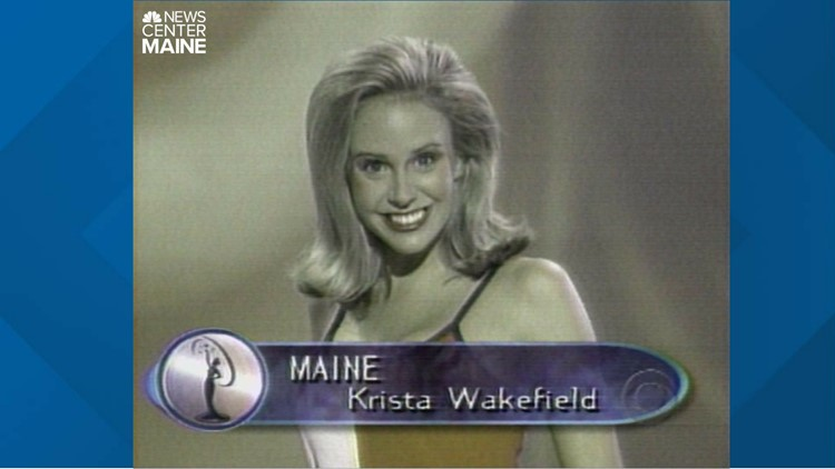 Krista Glover was Krista Wakefield when she was the winner of Miss Maine Teen USA and represented the Pine Tree state.