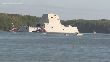 BIW six years late on delivery of Zumwalt Destroyers